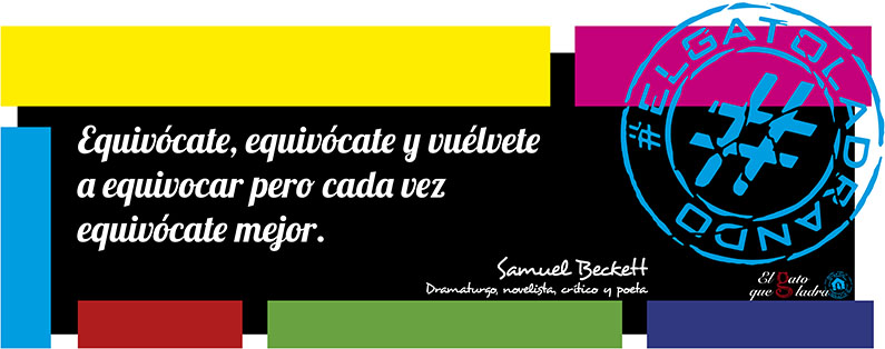Frase del día, Samuel Beckett sobre equivocarse