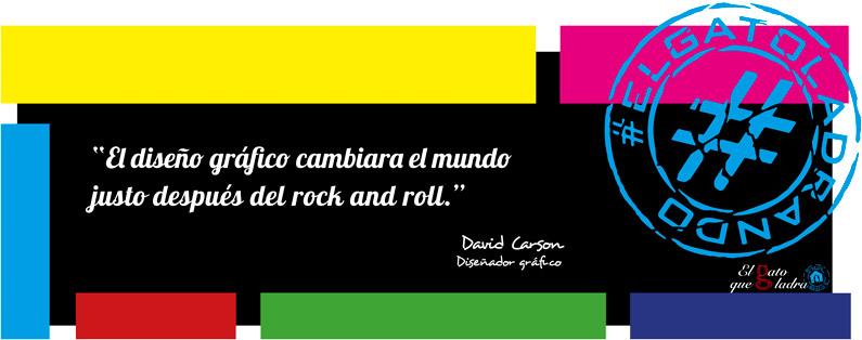 Frase del día, David Carson sobre el rock