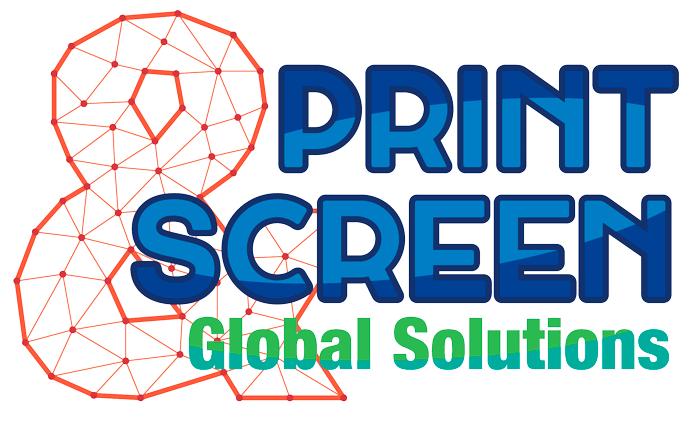 logotipo print & screen, imagen corporativa, diseño, zaragoza, el gato que ladra